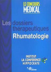 Dossier Therapeutique Rhumatologie - Intérieur - Format classique