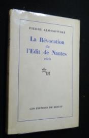 La Révocation de l'Edit de Nantes - Couverture - Format classique
