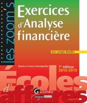 Exercices d'analyse financière avec corrigés détaillés (7e édition) - Couverture - Format classique