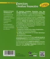 Exercices d'analyse financière avec corrigés détaillés (7e édition) - 4ème de couverture - Format classique