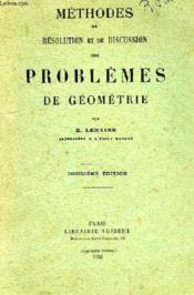 Methodes De Resolution Et De Discussion Des Problemes De Geometrie - Couverture - Format classique