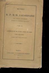 Oeuvres - Tome Iii - Conferences De Notre-Dame De Paris Annees 1835-1836-1843-1844 - Couverture - Format classique