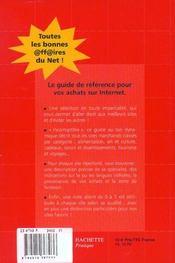 Le Guide Bexley Des Sites Marchands ; Edition 2002 - 4ème de couverture - Format classique