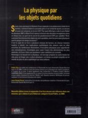 La physique par les objets quotidiens (2e édition) - 4ème de couverture - Format classique