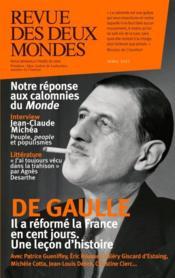 REVUE DES DEUX MONDES ; 1958, les cent jours de De Gaulle (édition 2017) - Couverture - Format classique