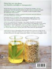 Super chanvre & CBD ; botanique - culture - bienfaits + 50 recettes hyperprotéinées - 4ème de couverture - Format classique
