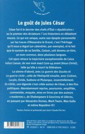 Le goût de Jules César - 4ème de couverture - Format classique