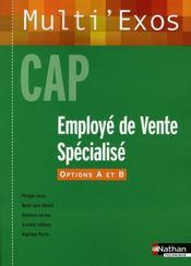 Employé de vente specialisé ; options A et B ; CAP ; élève multi'exos - Intérieur - Format classique