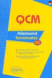 Qcm Allemand Terminales Toutes Series 400 Qcm Corriges Et Commentes Outils D'Evaluation - Intérieur - Format classique