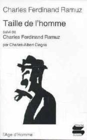 Taille de l'homme ; Charles Ferdinand Ramuz - Couverture - Format classique