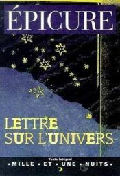 Lettre sur l'univers - Couverture - Format classique