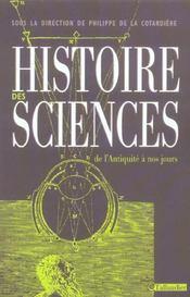 Histoire des sciences de la prehistoire a nos jours - Intérieur - Format classique