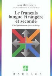 Francais Langue Etrangere Et Seconde - Intérieur - Format classique