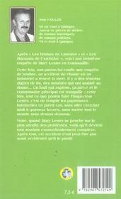 MARY LESTER T.3 ; la mort au bord de l'étang - 4ème de couverture - Format classique