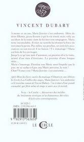 Marie Janvier S'Est Endormie - 4ème de couverture - Format classique