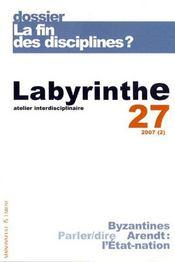 Labyrinthe - Atelier Interdisciplinaire N.27 ; La Fin Des Disciplines ? - Intérieur - Format classique
