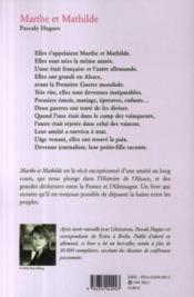 Marthe et Mathilde - 4ème de couverture - Format classique