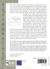 De Kafka à Toussaint ; écritures du XXe siècle - 4ème de couverture - Format classique