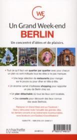 Un Grand Week-End ; A Berlin - 4ème de couverture - Format classique