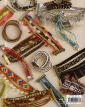 Manchettes brésiliennes en perles rubans et cie - 4ème de couverture - Format classique