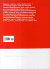 Imprint 2 : design de livres, brochures et catalogues - 4ème de couverture - Format classique