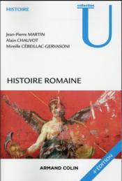 Histoire romaine (4e édition) - Couverture - Format classique