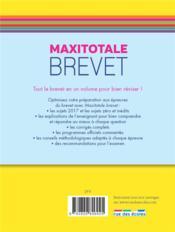 Maxitotale ; brevet ; tout-en-un (édition 2018) - 4ème de couverture - Format classique