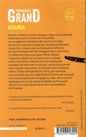 Kisanga - 4ème de couverture - Format classique