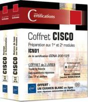 CISCO ; coffret de 2 livres : préparation aux 1er et 2e modules ICND1 de la certification CCNA 200-125 - Couverture - Format classique