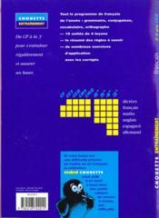 Chouette Entrainement ; Français ; Ce2 ; Exercices - 4ème de couverture - Format classique