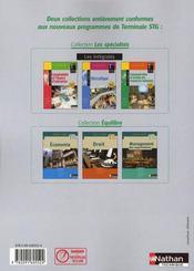 Comptabilité et finance d'entreprise ; intégrale ; terminale STG ; livre de l'élève (édition 2008) - 4ème de couverture - Format classique