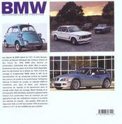 Bmw ; Automobiles De Prestige - 4ème de couverture - Format classique