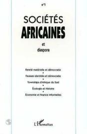 Societes Africaines Et Diapora N1 - Couverture - Format classique