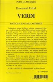 Verdi - 4ème de couverture - Format classique