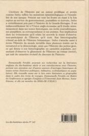 Daniel Defoe et l'écriture de l'Histoire - 4ème de couverture - Format classique