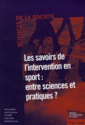 Savoirs de l'intervention en sport : entre sciences et pratiques ? - Couverture - Format classique