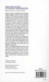 Le livre de l'intranquillité - 4ème de couverture - Format classique