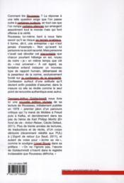 Jean jacques rousseau ou l esprit de solitude - 4ème de couverture - Format classique