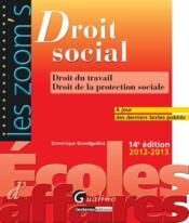 Droit social 2012-2013 (14e édition) - Couverture - Format classique