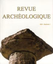 Revue Archeologique N.2013/1 - Couverture - Format classique