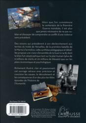 La Première Guerre mondiale - 4ème de couverture - Format classique