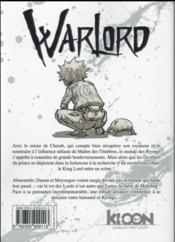 Warlord T.11 - 4ème de couverture - Format classique