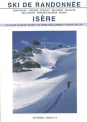 Ski de randonnée ; Isère - Couverture - Format classique