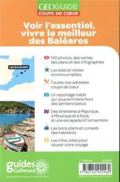 GEOguide coups de coeur ; Baléares (édition 2019) - 4ème de couverture - Format classique