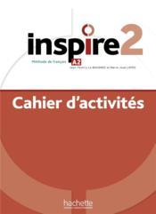 Inspire 2 : cahier d'activites + audio mp3 - methode de fle - Couverture - Format classique