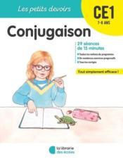 Les petits devoirs ; conjugaison ; CE1 - Couverture - Format classique
