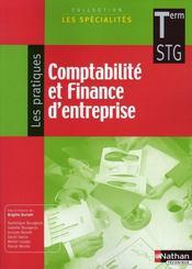 Comptabilité et finance d'entreprise ; pratique ; terminale STG ; livre de l'élève (édition 2008) - Intérieur - Format classique