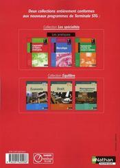 Comptabilité et finance d'entreprise ; pratique ; terminale STG ; livre de l'élève (édition 2008) - 4ème de couverture - Format classique