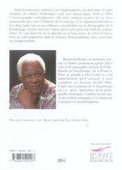 La population de la Guadeloupe ; de l'émancipation à l'assimilation, 1848-1946 - 4ème de couverture - Format classique