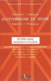 Le dictionnaire français-anglais de poche (25000 mots) - Intérieur - Format classique